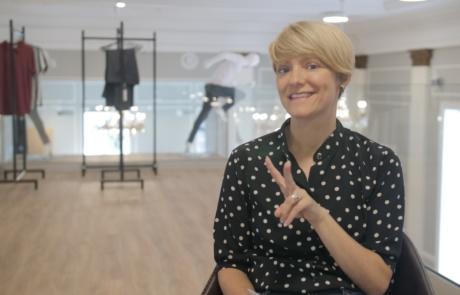 Augenblick film kundetestimonial: Bettina klar til interview
