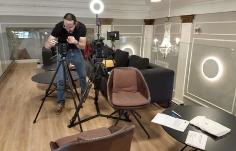 Augenblick film kundetestimonial: Daniel med udstyr