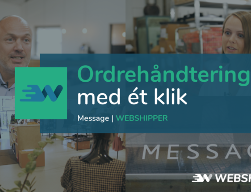 Webshipper – Message