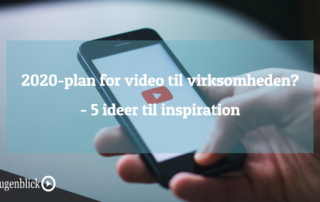 Mobil telefon viser video til inspiration og ideer for virksomhed